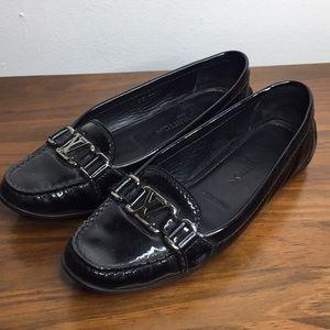 Louis Vuitton Black Patent Leather Flats Sz 6.5